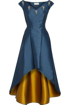 SACHIN & BABI Elsa embellished duchesse satin-twill dress