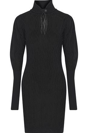 PIERRE BALMAIN Cutout cable-knit mini dress