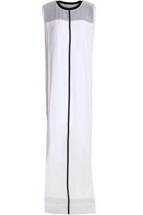 DKNY Layered silk and crepe de chine maxi dress