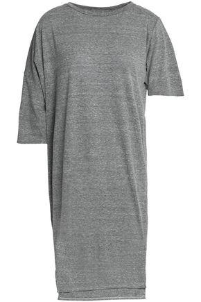OAK Asymmetric mélange cotton-jersey dress