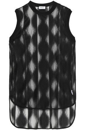 DKNY Mesh-jacquard tunic