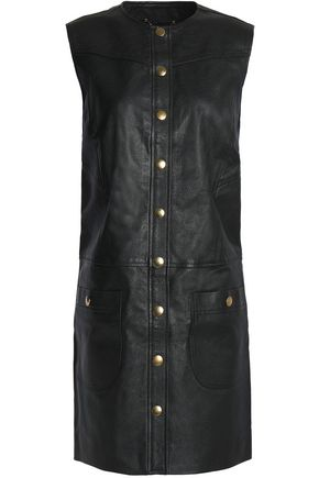 COACH Leather mini dress