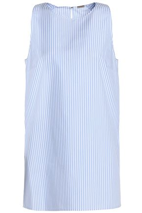 ADAM LIPPES Striped cotton-poplin top