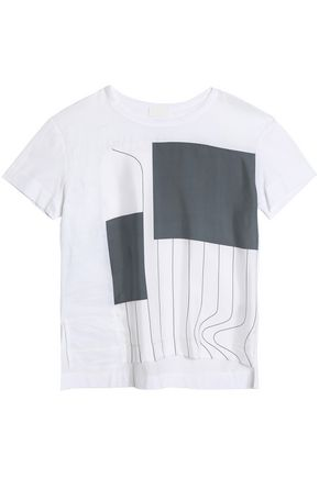 DKNY Printed silk T-shirt