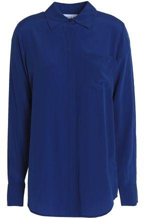 DKNY Washed silk-blend shirt