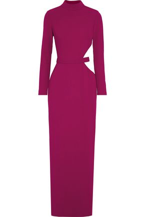 BRANDON MAXWELL Cutout crepe gown