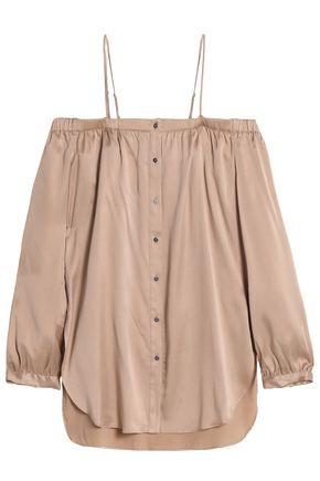 HAUTE HIPPIE Off-the-shoulder silk-blend blouse