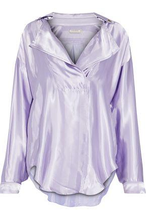 NINA RICCI Satin-jacquard shirt