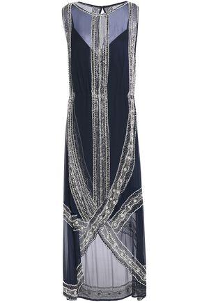HAUTE HIPPIE Embellished silk-chiffon maxi dress