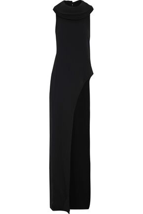 BRANDON MAXWELL Asymmetric layered crepe top
