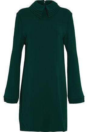 BRANDON MAXWELL Layered crepe mini dress