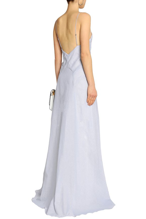 Robe Femme Coton Popeline Rayée Haute Hippie Ciel Bleu Taille 10 Haute Hippie 0ESnK3GK6