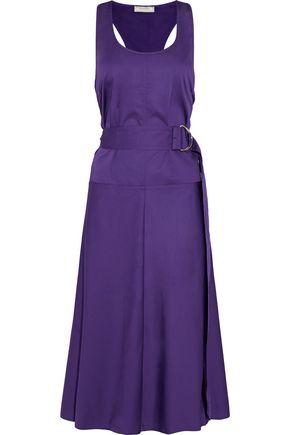 NINA RICCI Belted cotton-poplin dress