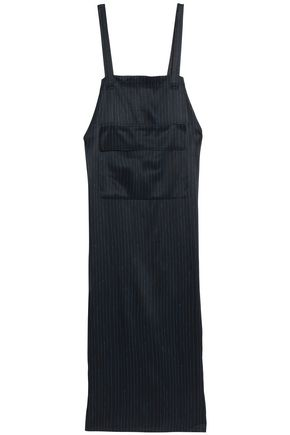 DKNY Pinstriped satin maxi dress