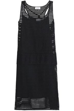 DKNY Laser-cut crepe dress