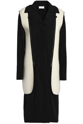 DKNY Detachable felt-paneled gabardine coat