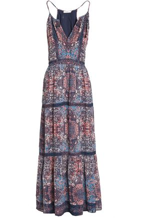 JOIE Agnece printed silk crepe de chine maxi dress