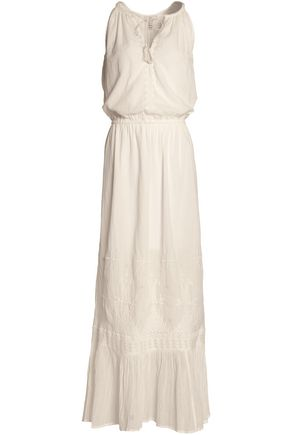 JOIE Manuelita embroidered cotton-gauze maxi dress