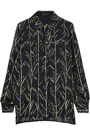 PROENZA SCHOULER Printed silk-twill shirt