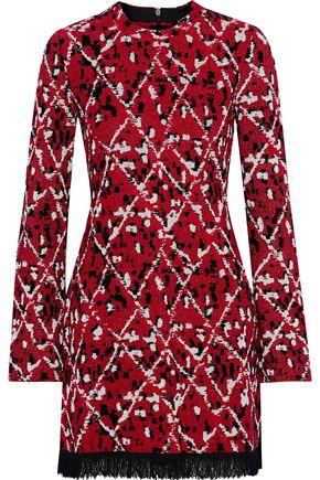 PROENZA SCHOULER Fringe-trimmed jacquard-knit tunic