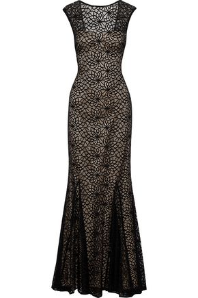 MIKAEL AGHAL Cutout guipure lace gown