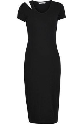 HELMUT LANG Cutout stretch cotton-jersey dress