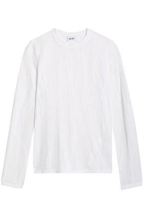 DKNY Burnout-effect open-knit sweater