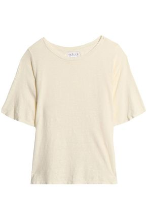 VELVET by GRAHAM & SPENCER Stretch-linen slub-jersey top