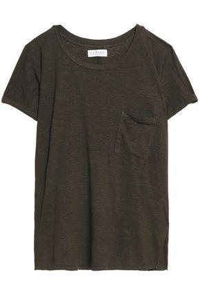 VELVET by GRAHAM & SPENCER Slub linen-blend jersey T-shirt