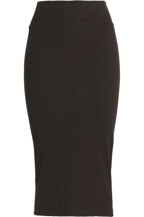 ENZA COSTA Ribbed-knit skirt