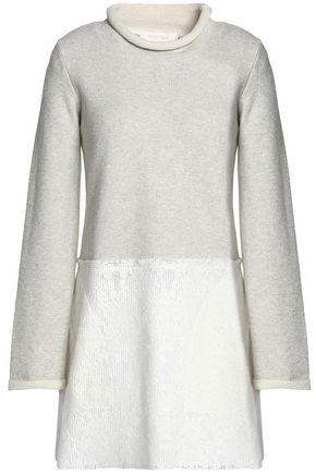 SEE BY CHLOÉ Cotton-terry and lace mini dress