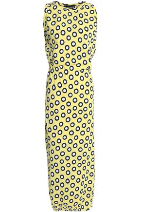 BOUTIQUE MOSCHINO Polka-dot cotton maxi dress