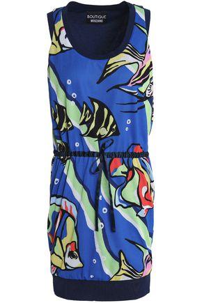 BOUTIQUE MOSCHINO Printed mesh mini dress