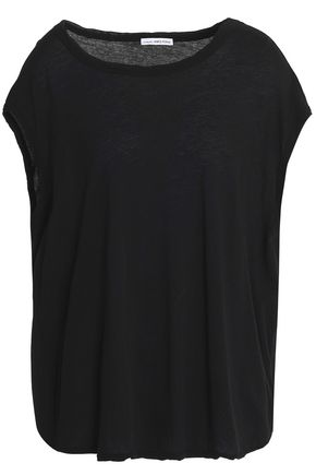 JAMES PERSE Twist-front cotton-jersey top