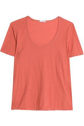 JAMES PERSE Cotton and linen-blend jersey T-shirt