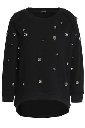 DODO BAR OR Embellished cotton-terry sweatshirt