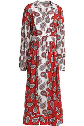 DODO BAR OR Printed silk midi dress
