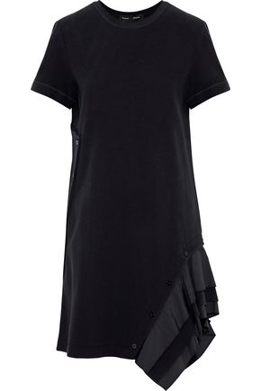 PROENZA SCHOULER Ruffled poplin-trimmed cotton-blend dress