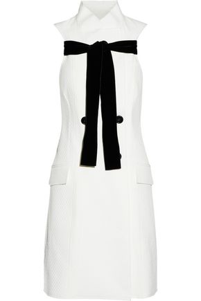 PROENZA SCHOULER Tie-front matelassé cotton and silk-blend mini dress