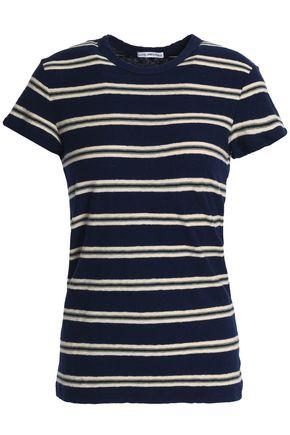 JAMES PERSE Striped slub cotton-jersey T-shirt