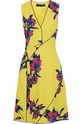 PROENZA SCHOULER Button-detailed floral-print silk crepe de chine dress