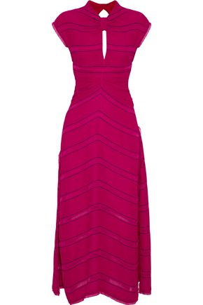 PROENZA SCHOULER Tie-back striped crepe maxi dress