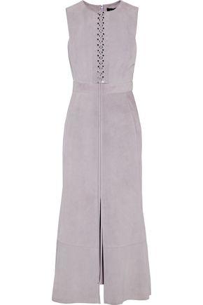 PROENZA SCHOULER Lace-up suede midi dress