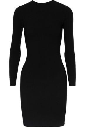 HELMUT LANG Cutout stretch-knit mini dress