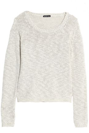 JAMES PERSE Mélange cotton and linen-blend sweater