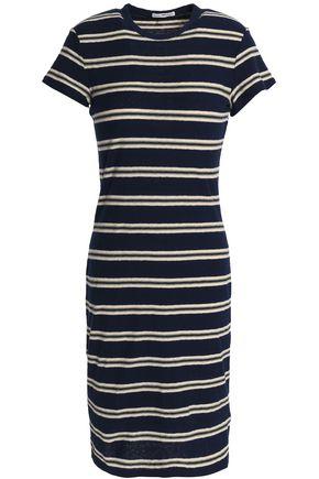 JAMES PERSE Striped slub cotton-jersey mini dress