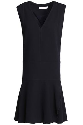 SEE BY CHLOE | See By Chloé Woman Fluted Crepe Dress Midnight Blue | Goxip