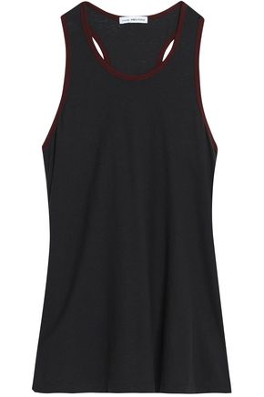 JAMES PERSE Cotton and linen-blend jersey tank