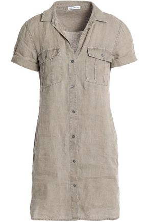 JAMES PERSE Gauze mini shirt dress