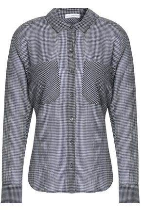 JAMES PERSE Checked cotton-poplin shirt